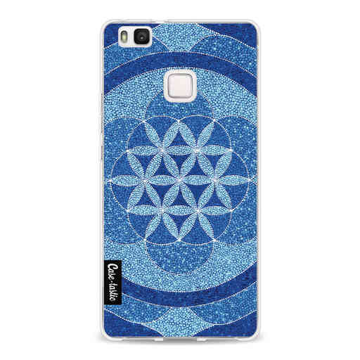 Casetastic Softcover Huawei P9 Lite - Blue Flower Of Life