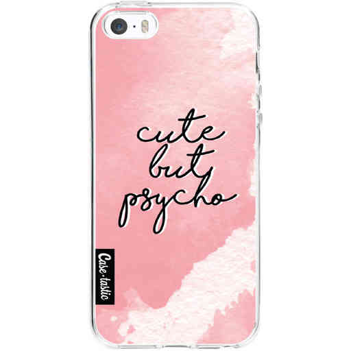 Casetastic Softcover Apple iPhone 5 / 5s / SE - Cute But Psycho Pink
