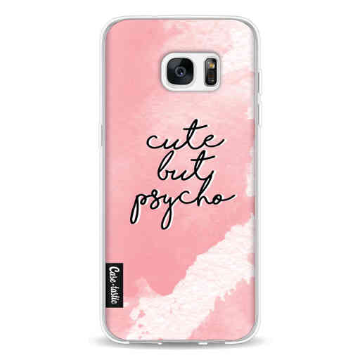 Casetastic Softcover Samsung Galaxy S7 Edge - Cute But Psycho Pink