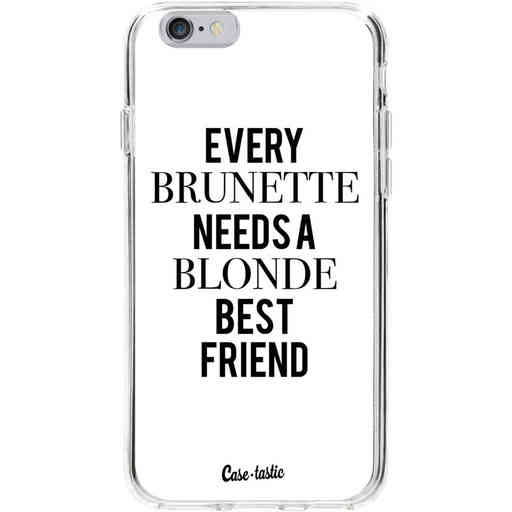 Casetastic Softcover Apple iPhone 6 / 6s  - Every Brunette Needs A Blonde White