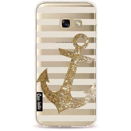 Casetastic Softcover Samsung Galaxy A3 (2017) - Glitter Anchor Gold