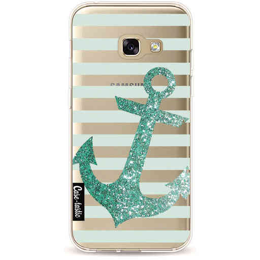 Casetastic Softcover Samsung Galaxy A3 (2017) - Glitter Anchor Mint