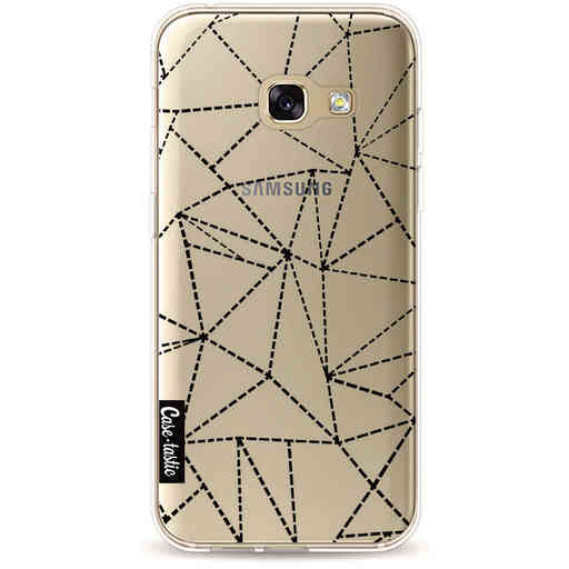 Casetastic Softcover Samsung Galaxy A3 (2017) - Abstract Dotted Lines Black Transparent