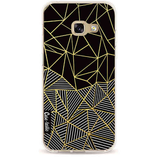 Casetastic Softcover Samsung Galaxy A3 (2017) - Abstraction Half Half Gold