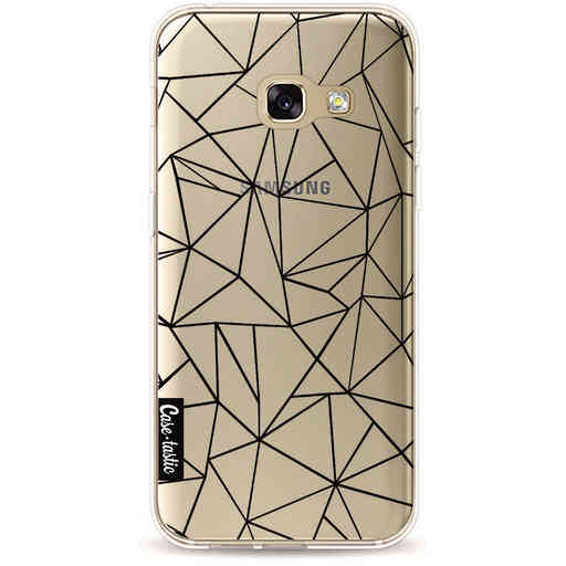 Casetastic Softcover Samsung Galaxy A3 (2017) - Abstraction Outline Black Transparent