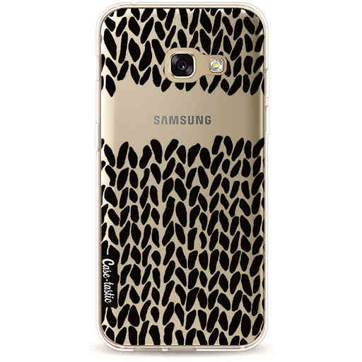 Casetastic Softcover Samsung Galaxy A3 (2017) - Missing Knit Black Transparent