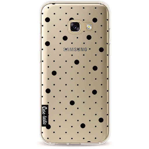 Casetastic Softcover Samsung Galaxy A3 (2017) - Pin Points Polka Black Transparent