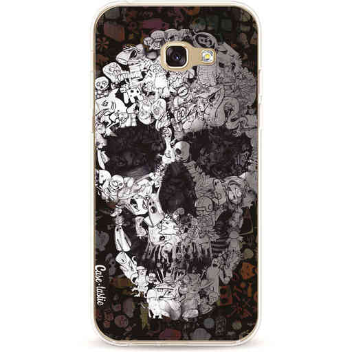 Casetastic Softcover Samsung Galaxy A5 (2017) - Doodle Skull BW