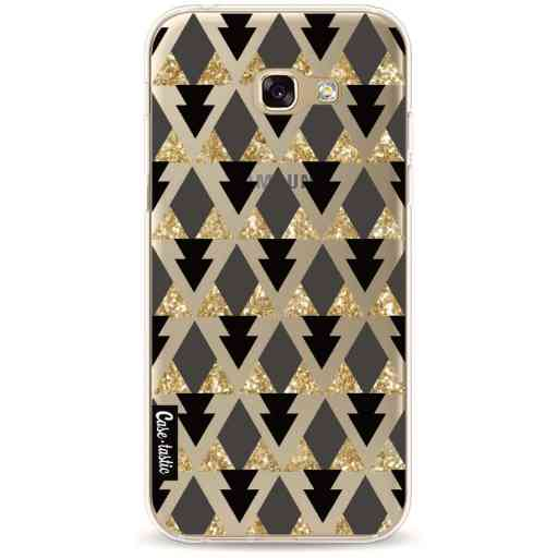 Casetastic Softcover Samsung Galaxy A5 (2017) - Gold Black Triangles