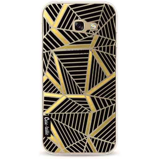 Casetastic Softcover Samsung Galaxy A5 (2017) - Abstraction Lines Black Gold Transparent