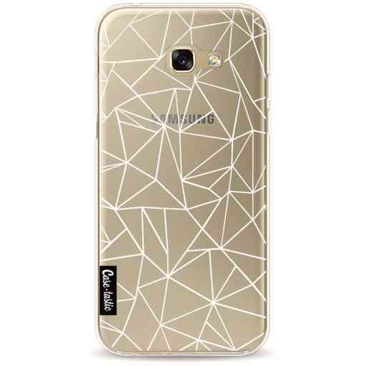 Casetastic Softcover Samsung Galaxy A5 (2017) - Abstraction Outline White Transparent