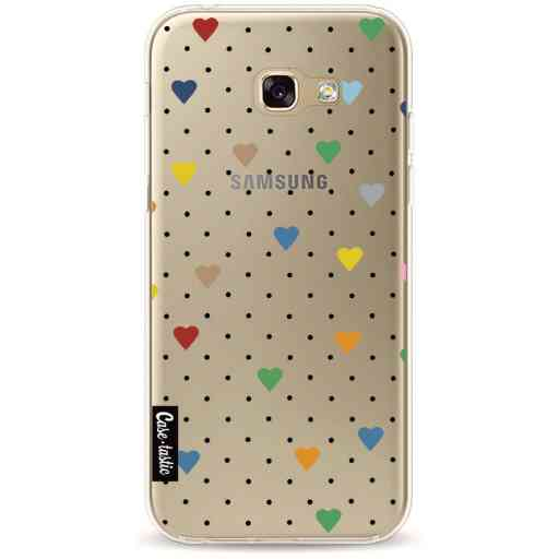 Casetastic Softcover Samsung Galaxy A5 (2017) - Pin Point Hearts Transparent