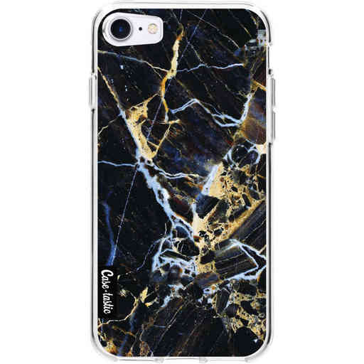 Casetastic Softcover Apple iPhone 7 / 8 / SE (2020) - Black Gold Marble