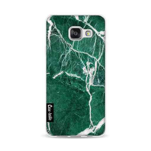 Casetastic Softcover Samsung Galaxy A3 (2016) - Dark Green Marble