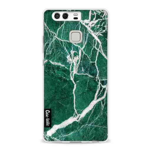 Casetastic Softcover Huawei P9  - Dark Green Marble