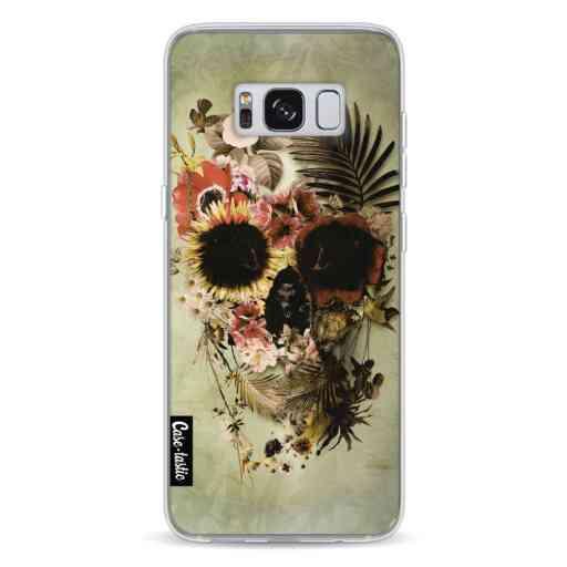 Casetastic Softcover Samsung Galaxy S8 - Garden Skull Light