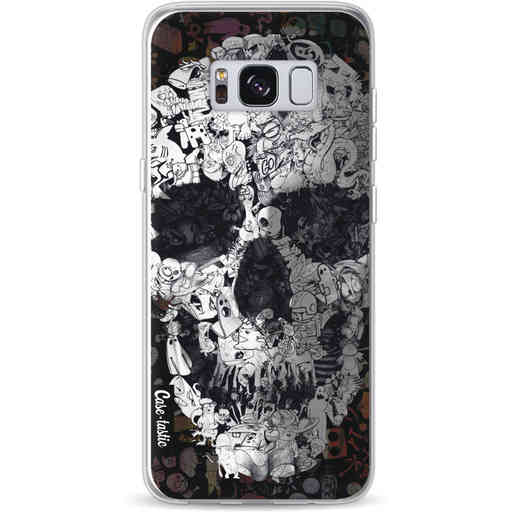 Casetastic Softcover Samsung Galaxy S8 - Doodle Skull BW