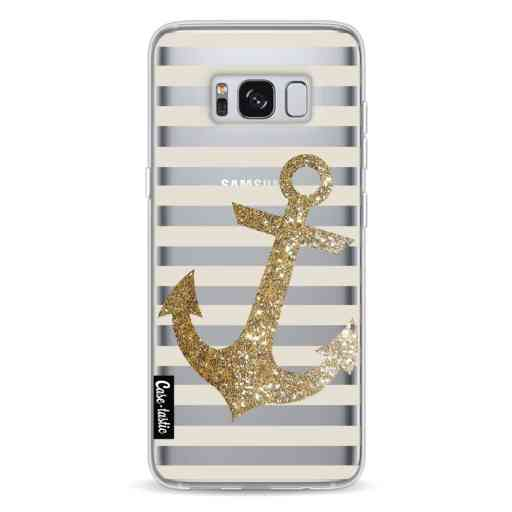 Casetastic Softcover Samsung Galaxy S8 - Glitter Anchor Gold