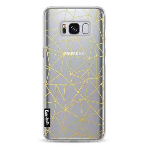 Casetastic Softcover Samsung Galaxy S8 - Abstraction Outline Gold Transparent