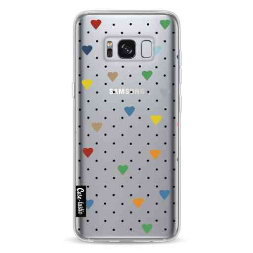 Casetastic Softcover Samsung Galaxy S8 - Pin Point Hearts Transparent