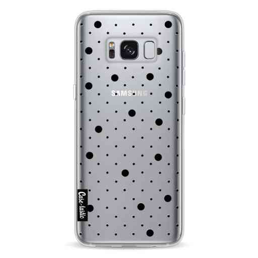 Casetastic Softcover Samsung Galaxy S8 - Pin Points Polka Black Transparent