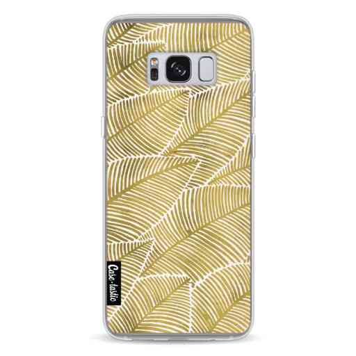 Casetastic Softcover Samsung Galaxy S8 - Tropical Leaves Gold