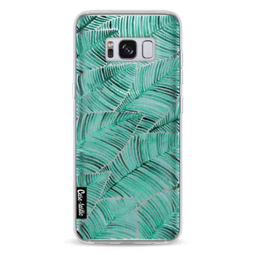 Casetastic Softcover Samsung Galaxy S8 - Tropical Leaves Turquoise