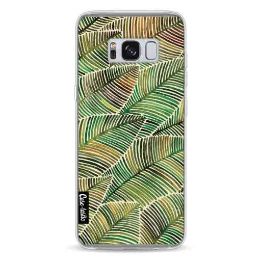 Casetastic Softcover Samsung Galaxy S8 - Tropical Leaves Yellow