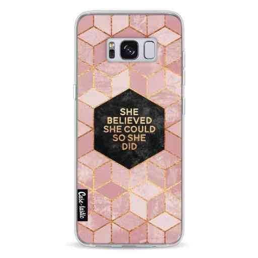Casetastic Softcover Samsung Galaxy S8 - She Believed She Could So She Did