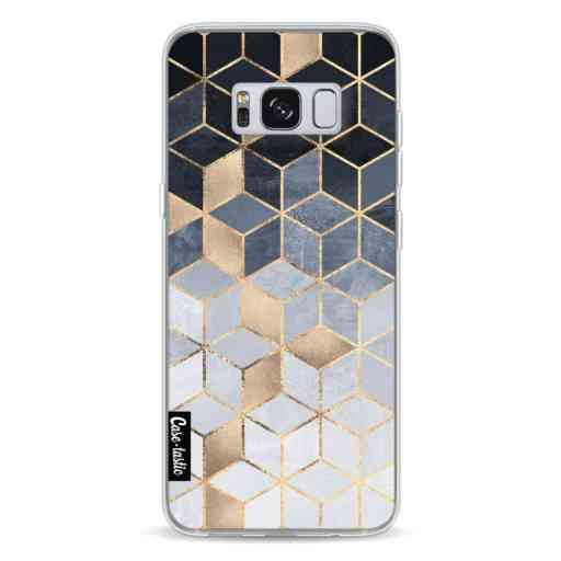 Casetastic Softcover Samsung Galaxy S8 - Soft Blue Gradient Cubes