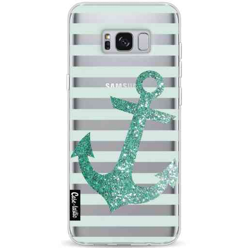 Casetastic Softcover Samsung Galaxy S8 Plus - Glitter Anchor Mint