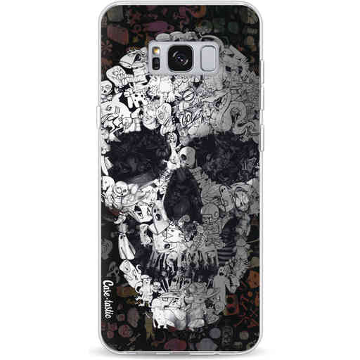 Casetastic Softcover Samsung Galaxy S8 Plus - Doodle Skull BW