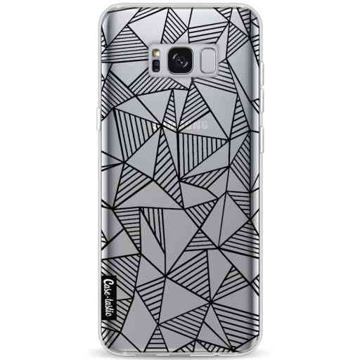 Casetastic Softcover Samsung Galaxy S8 Plus - Abstraction Lines Black Transparent