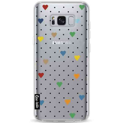 Casetastic Softcover Samsung Galaxy S8 Plus - Pin Point Hearts Transparent