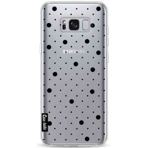 Casetastic Softcover Samsung Galaxy S8 Plus - Pin Points Polka Black Transparent