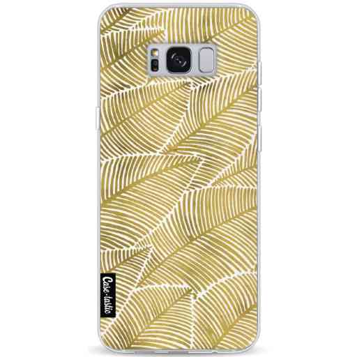 Casetastic Softcover Samsung Galaxy S8 Plus - Tropical Leaves Gold