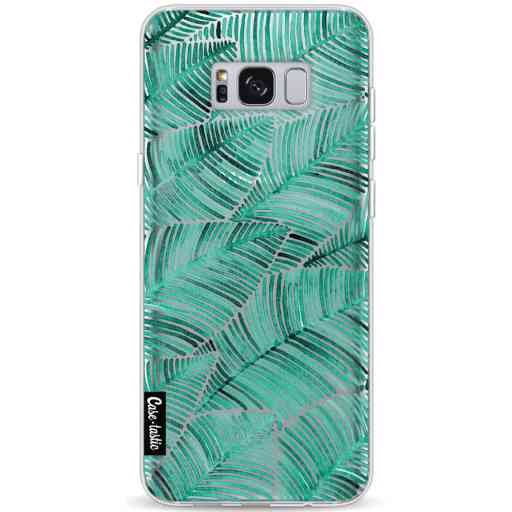 Casetastic Softcover Samsung Galaxy S8 Plus - Tropical Leaves Turquoise