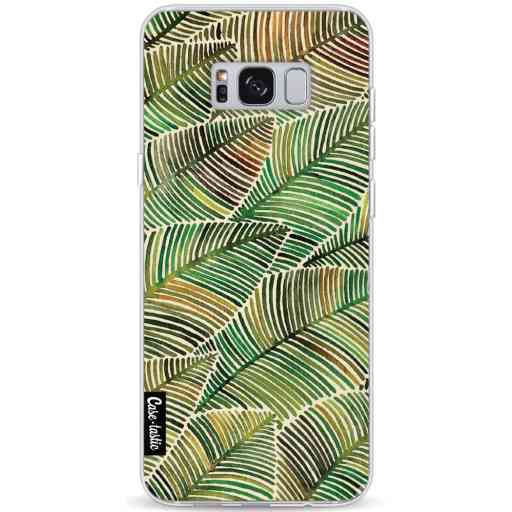 Casetastic Softcover Samsung Galaxy S8 Plus - Tropical Leaves Yellow