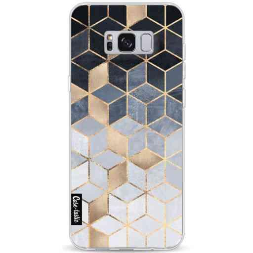 Casetastic Softcover Samsung Galaxy S8 Plus - Soft Blue Gradient Cubes