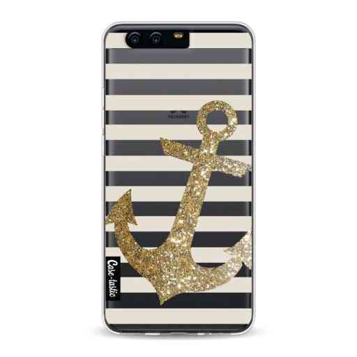 Casetastic Softcover Huawei P10 - Glitter Anchor Gold
