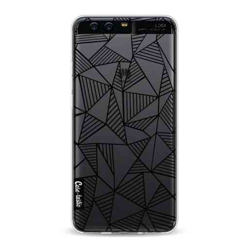 Casetastic Softcover Huawei P10 - Abstraction Lines Black Transparent
