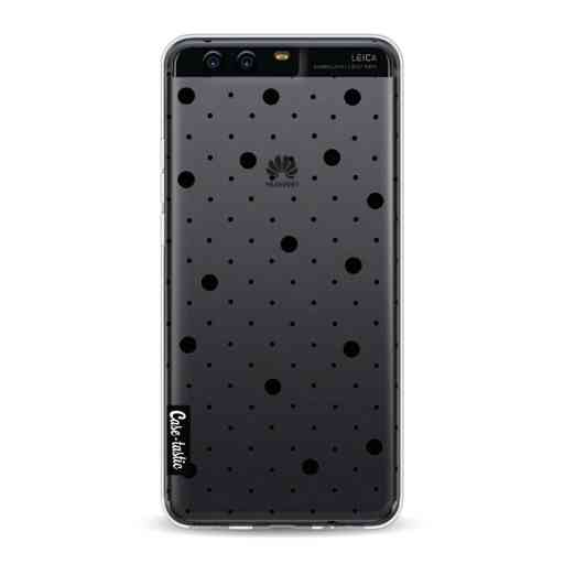 Casetastic Softcover Huawei P10 - Pin Points Polka Black Transparent