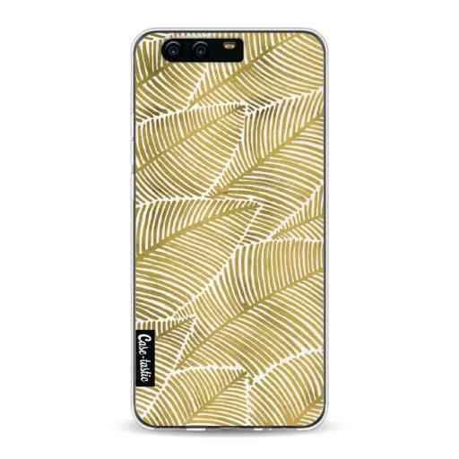 Casetastic Softcover Huawei P10 - Tropical Leaves Gold