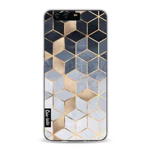 Casetastic Softcover Huawei P10 - Soft Blue Gradient Cubes