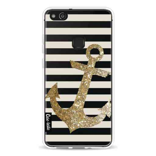 Casetastic Softcover Huawei P10 Lite - Glitter Anchor Gold