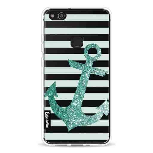 Casetastic Softcover Huawei P10 Lite - Glitter Anchor Mint