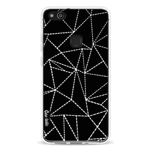 Casetastic Softcover Huawei P10 Lite - Abstract Dotted Lines Black