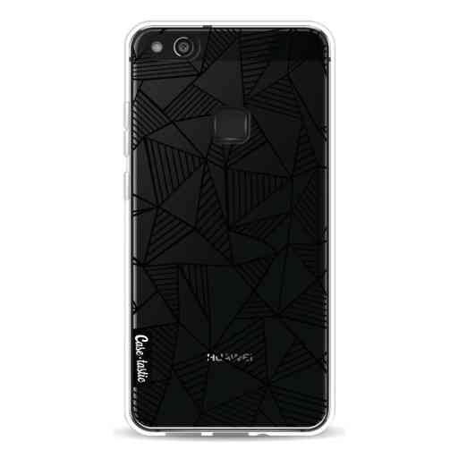 Casetastic Softcover Huawei P10 Lite - Abstraction Lines Black Transparent