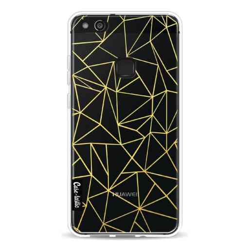 Casetastic Softcover Huawei P10 Lite - Abstraction Outline Gold Transparent