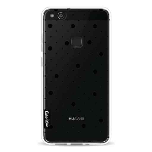 Casetastic Softcover Huawei P10 Lite - Pin Points Polka Black Transparent
